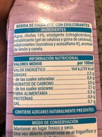 Bebida de chufa sin azúcares añadidos - Información nutricional