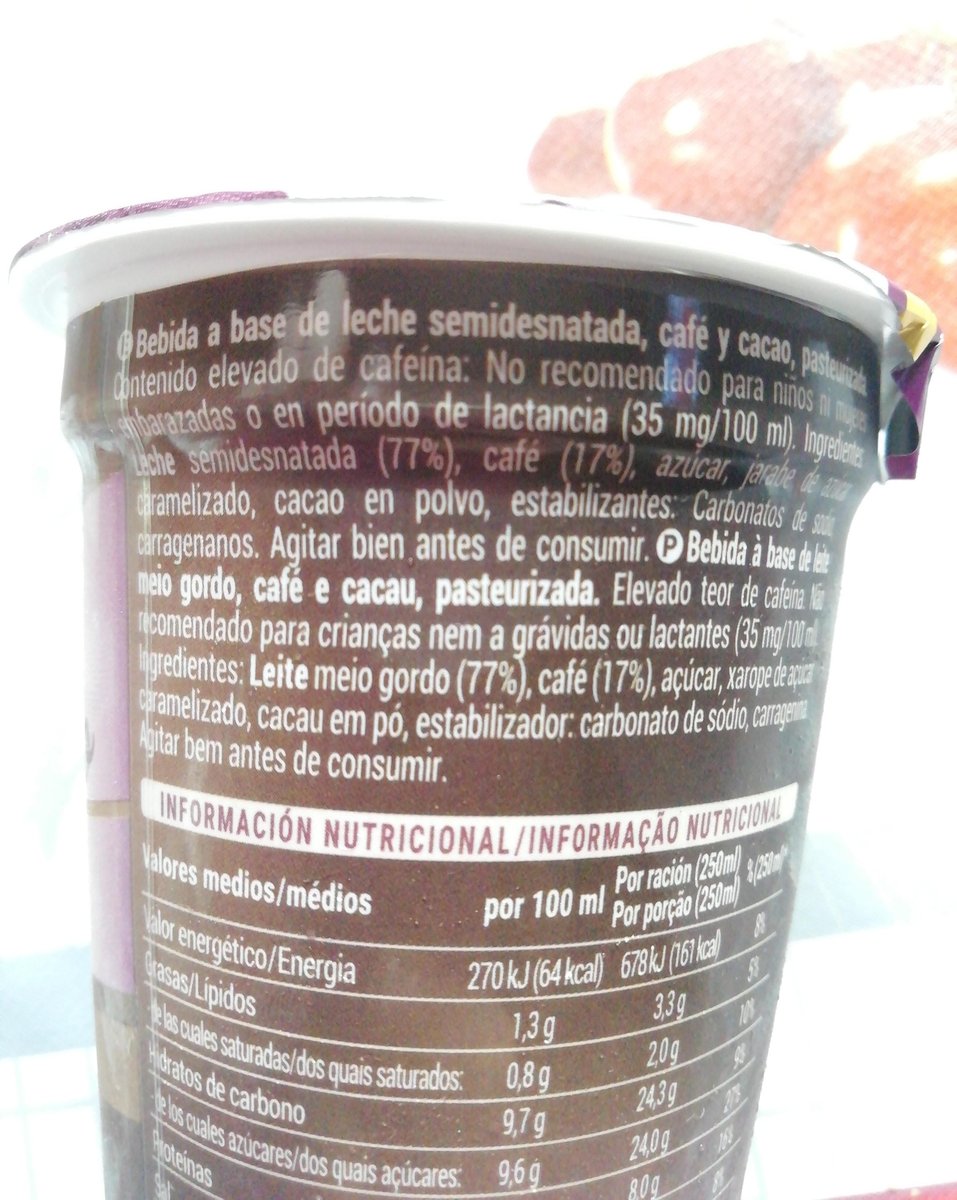 Café  Latte Cappuccino - Ingredients - es