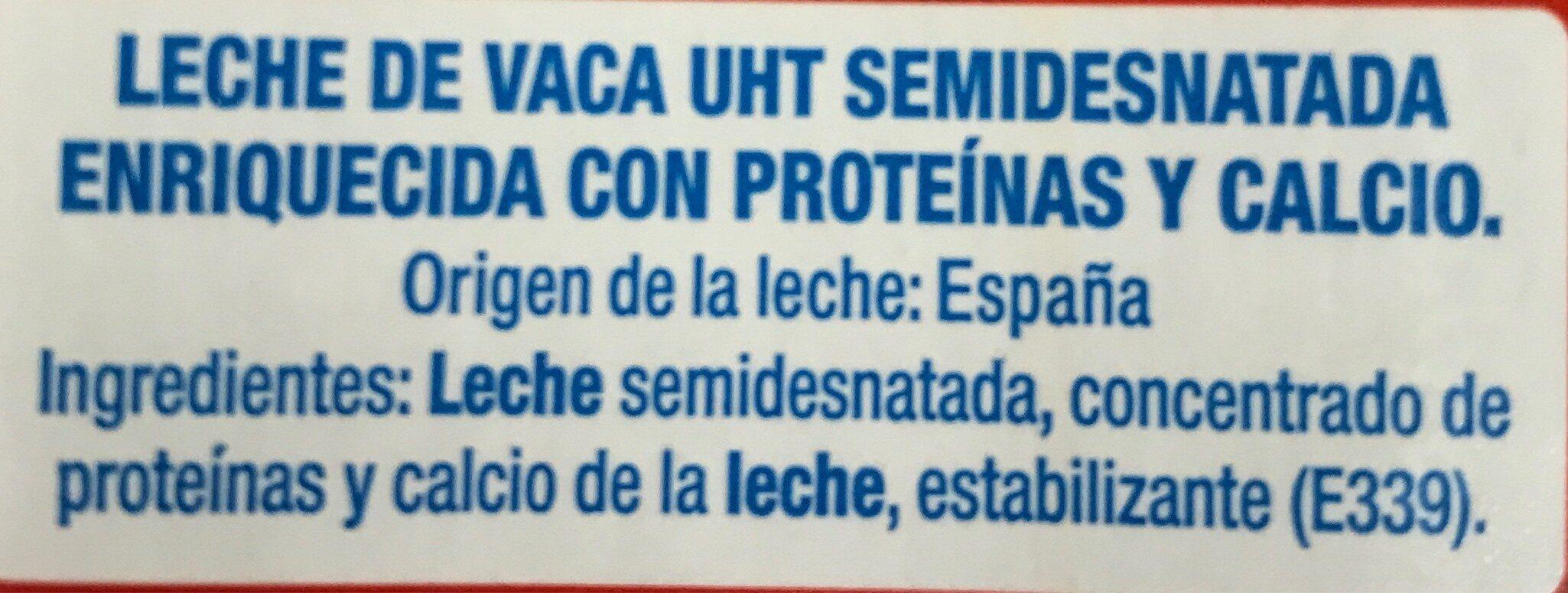 Leche semidesnatada +proteinas - Ingrédients - fr