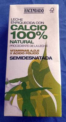 Leche semidesnatada enriquecida con calcio 100% natural - Produit - es