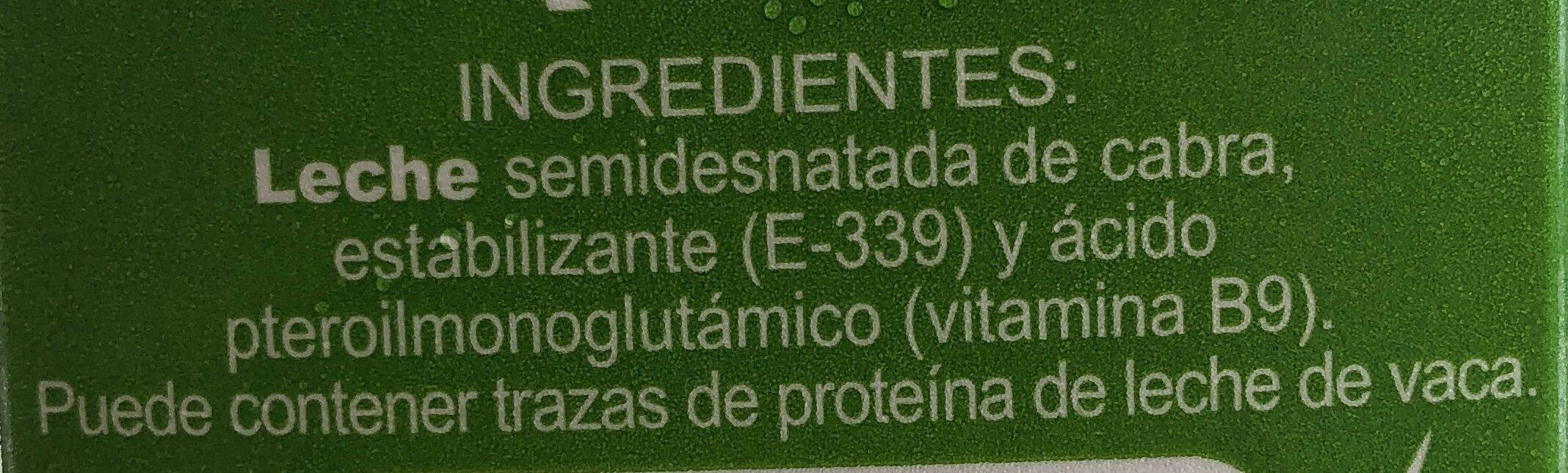 Leche De Cabra - Ingredientes