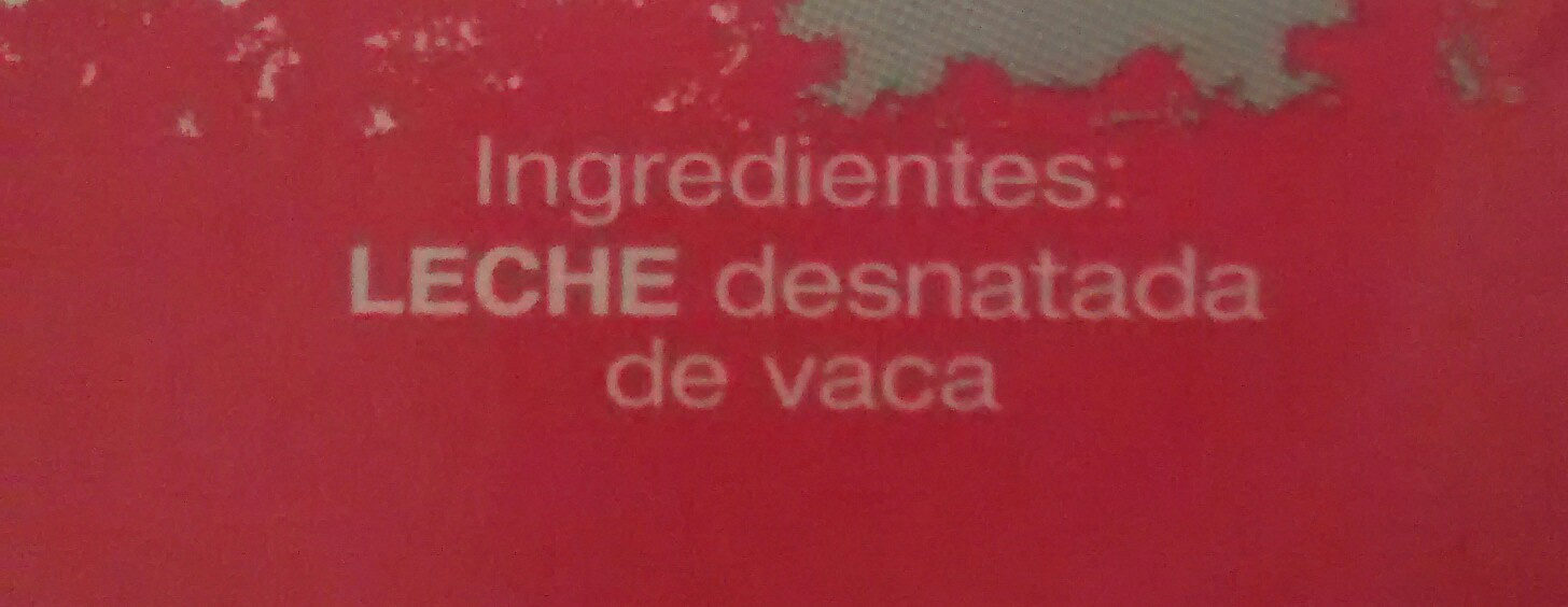 Leche desnatada - Ingredients