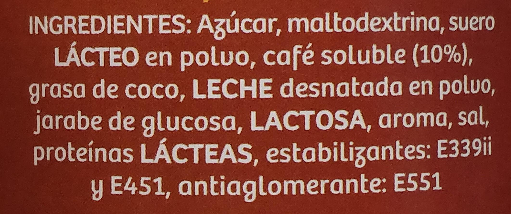 Cappuccino caramelo - Ingredientes - es
