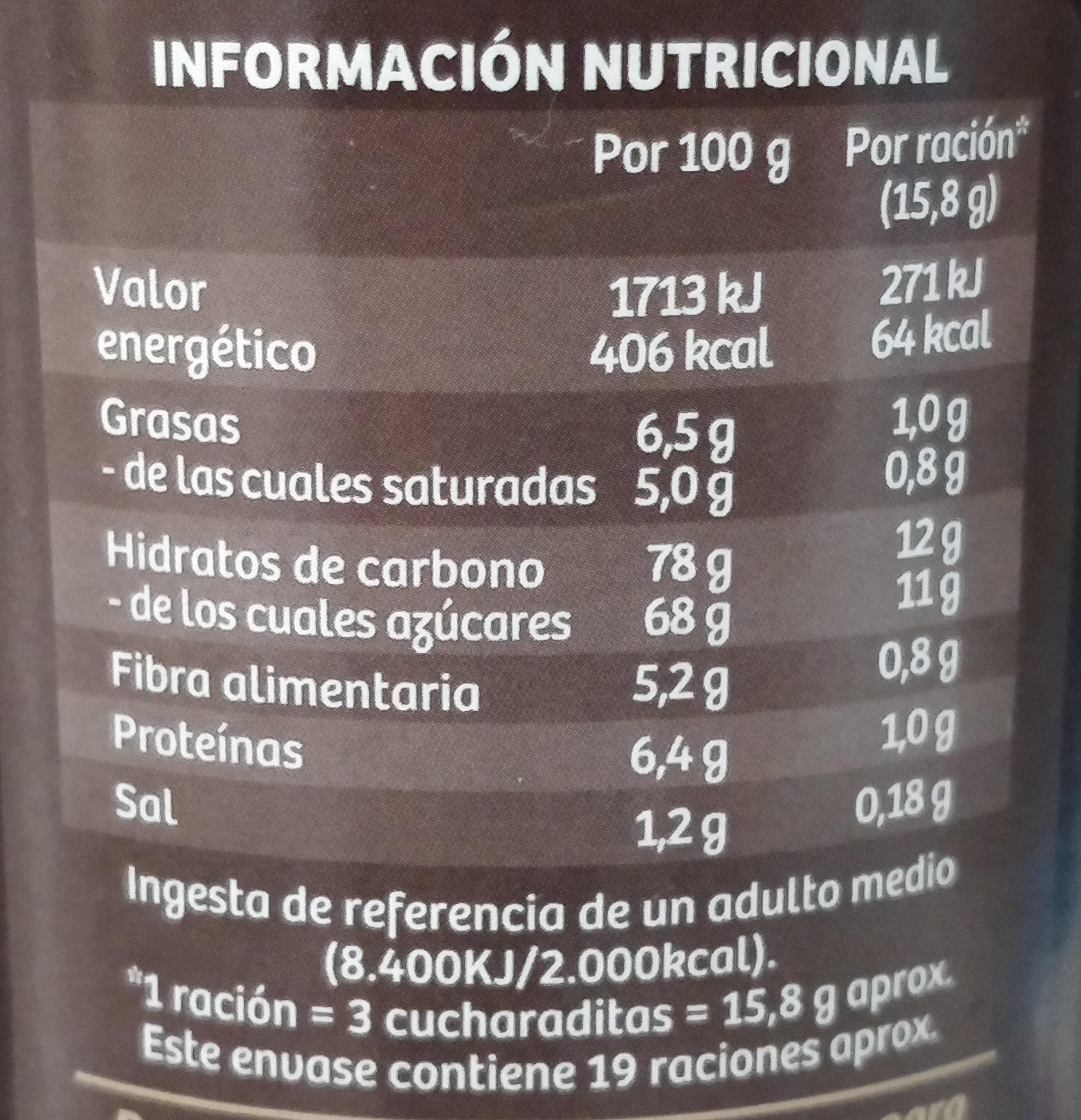Cappuccino vienés - Información nutricional - es