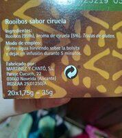 Rooibos sabor ciruela - Informations nutritionnelles - es