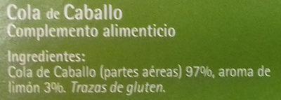 Cola de caballo - Ingredients - es