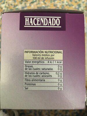 Valeriana hacendado - Nutrition facts