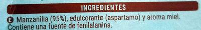 Manzanilla sabor a miel con edulcorante - Ingredients - es
