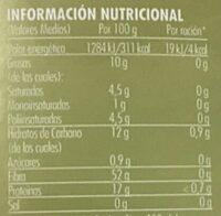 Natural, Café Molido - Nutrition facts - es