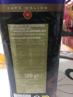Café descafeinado mezcla - Nutrition facts