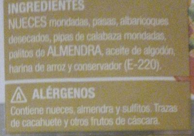 Combinado de Frutos Secos - Ingredients