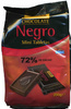 Mini tabletas de chocolate negro 72% cacao - Product