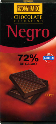 Chocolate negro 72% cacao - Product - es