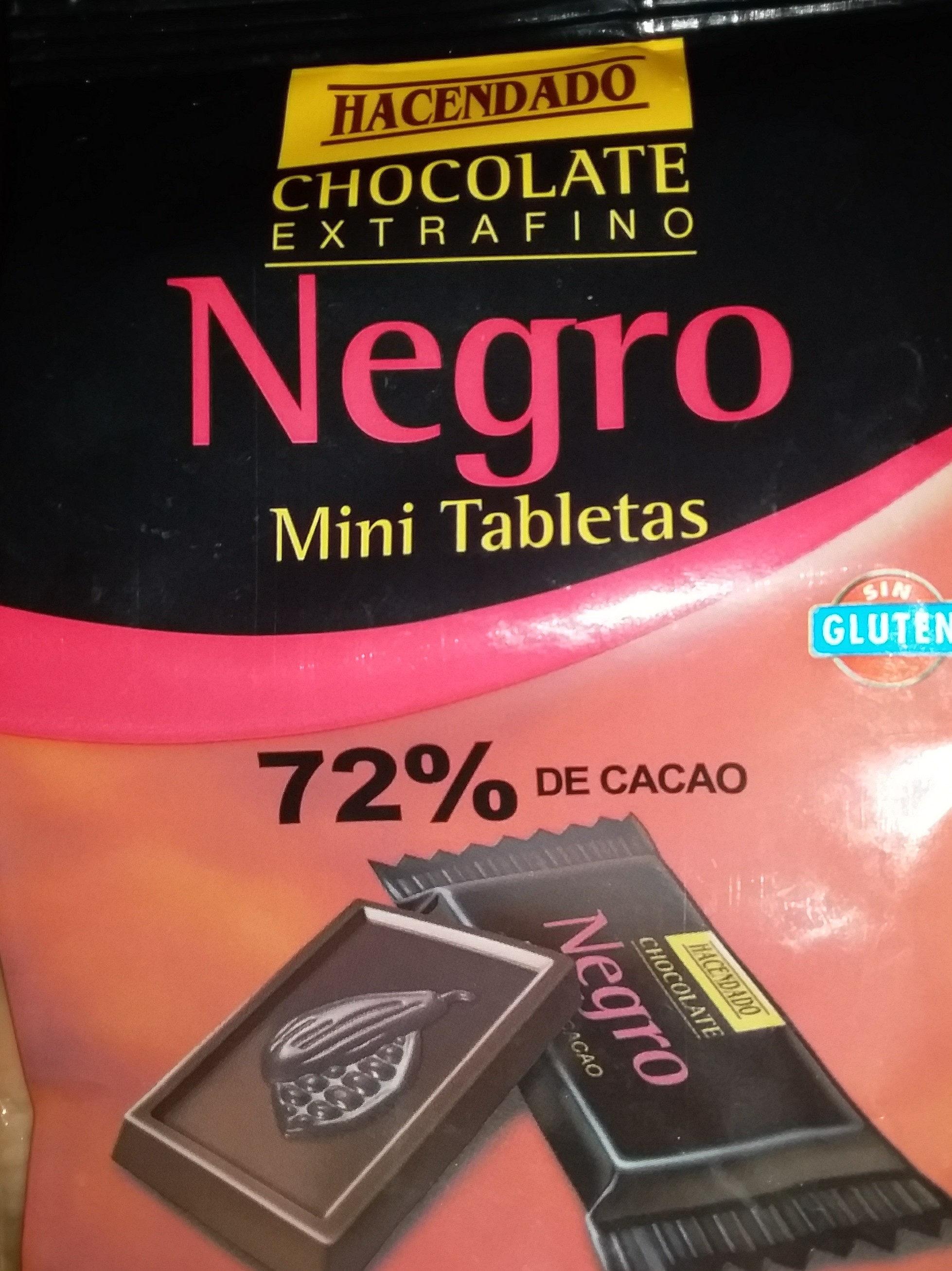 Chocolate extrafino negro mini tabletas - Producte - es