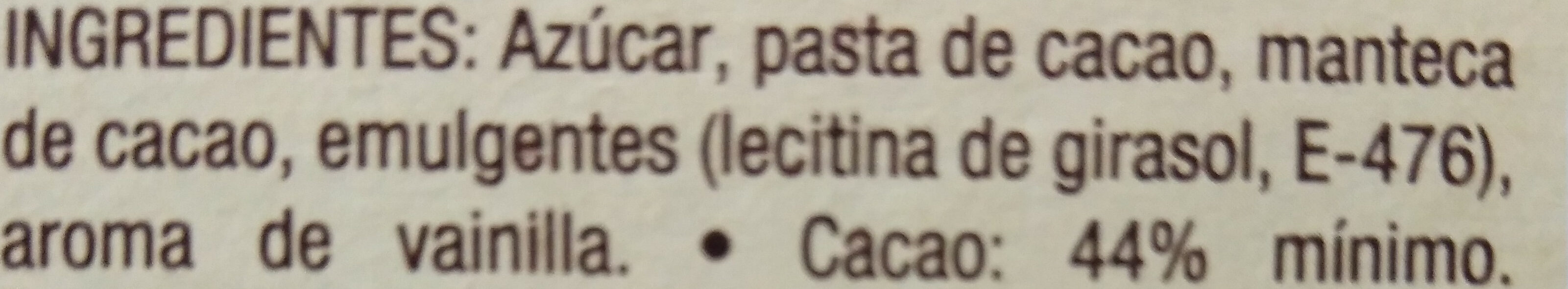 Gotas de Chocolate - Ingrediënten - es
