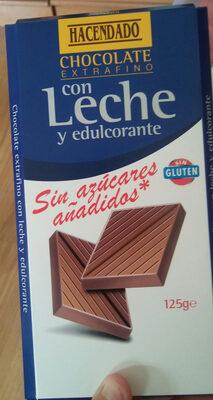 Chocolate Extrafino con Leche y edulcorante