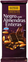 Tableta de chocolate negro con almendras 55% cacao - Product