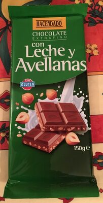 Chocolate con leche y avellanas - Producte