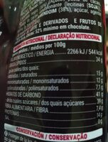 Cacahuetes chocolate negro - Nutrition facts - es