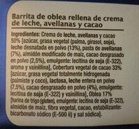 Barritas Rellenas - Ingredients