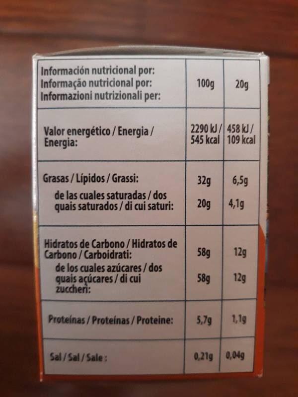 Huevos sorpresa - Información nutricional - es