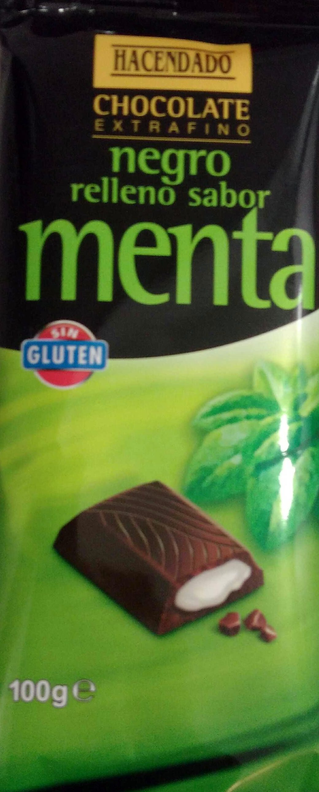 Chocolate negro relleno sabor menta - Product - es