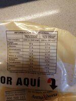 Chocolate blanco fundir y postres - Información nutricional - es