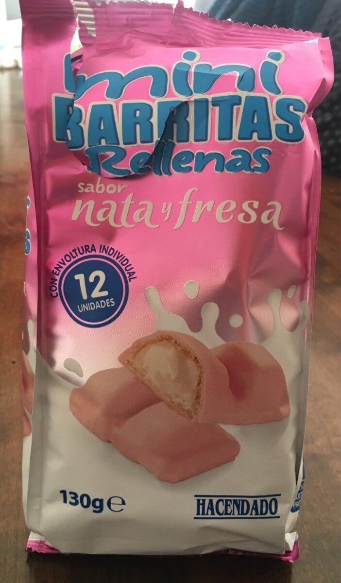 miniBARRITAS rellenas sabor nata y fresa - Product
