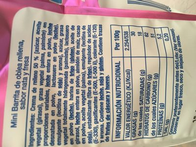 miniBARRITAS - Ingredients