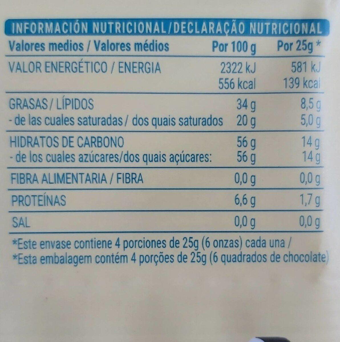 blanco - Informations nutritionnelles - es