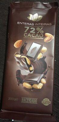 Chocolate Extrafino Negro 72% De Cacao Con Almendras Enteras