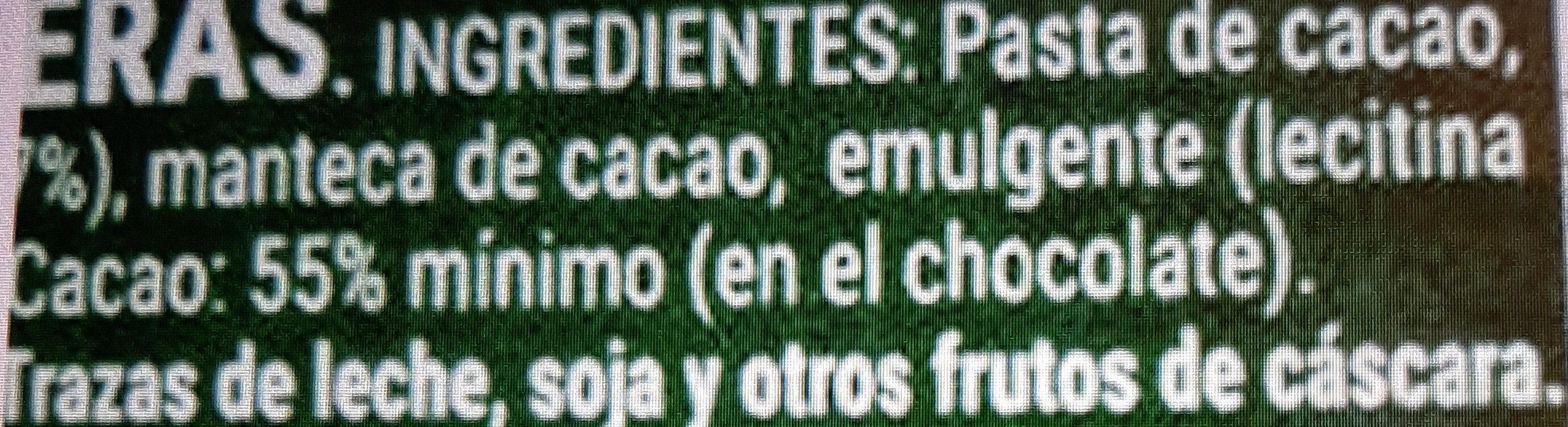 Chocolate extrafino negro avellanas - Ingredientes - es