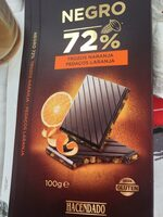 Chocolate negro 72% trozos de naranja - Producto - es