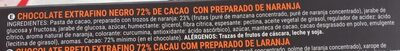 Chocolate negro 72% trozos de naranja - Ingredientes - es