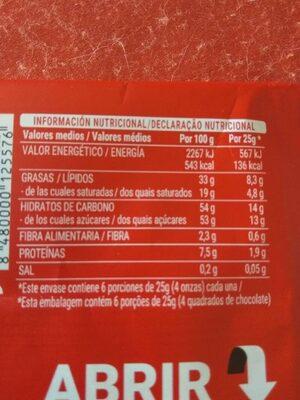 Classic - Información nutricional - es