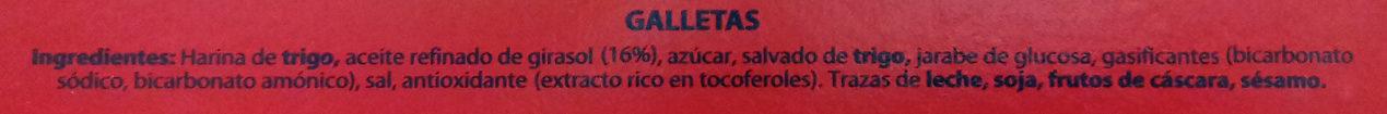 Galletas digestive clásica - Ingredienti - es