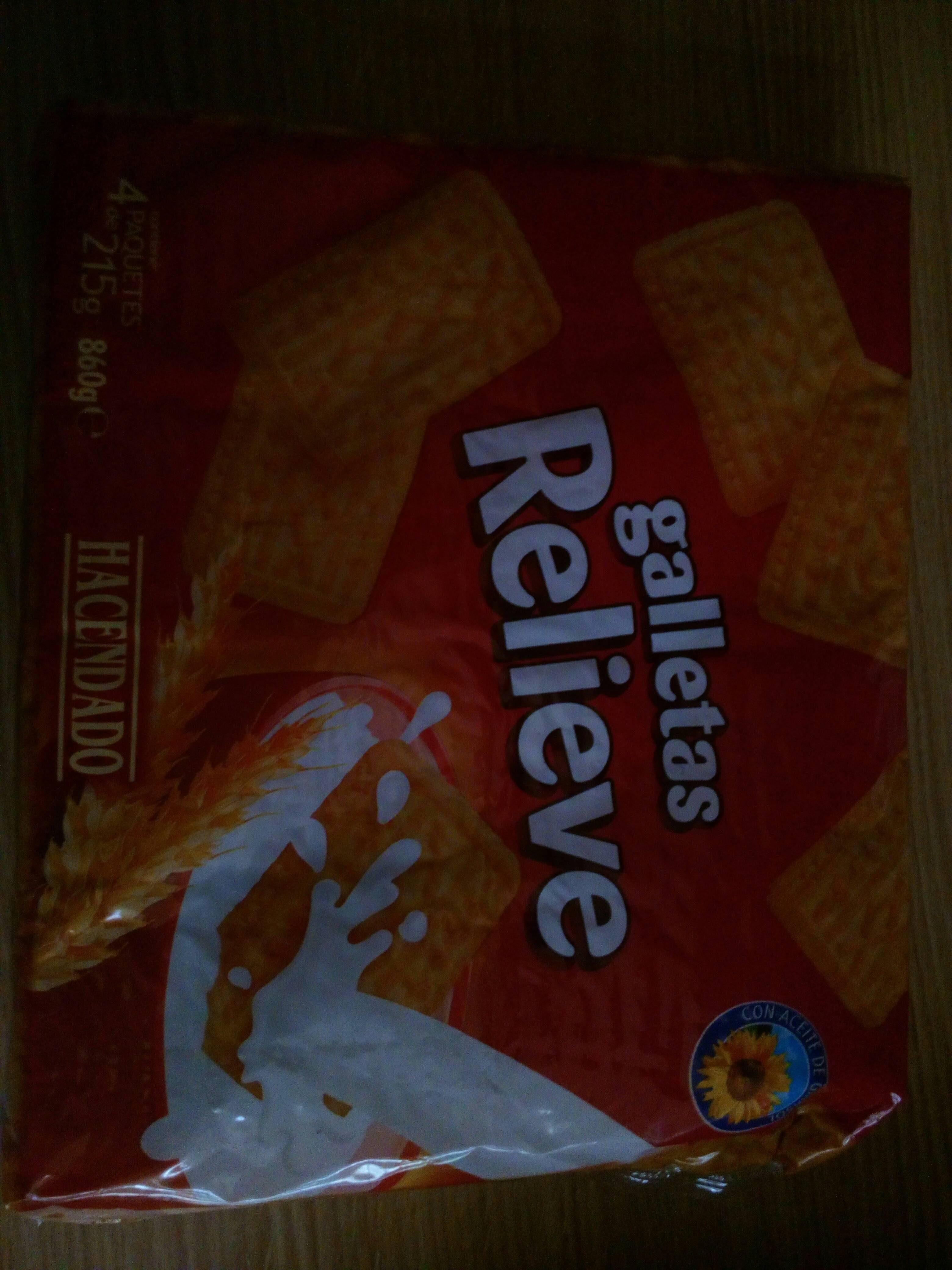 Kcal galletas relieve hacendado