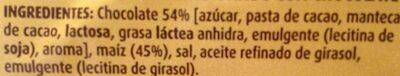 Tortitas De Maiz Con Chocolate, Chocolate Negro - Ingredientes