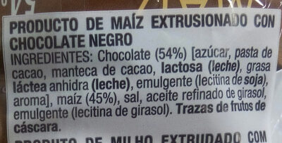 Tortitas de maiz chocolate negro - Ingredients - es