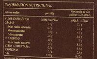 Avena digestive - Información nutricional