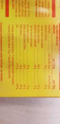Naranja laranja - Información nutricional