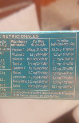 Galleta con cereales y fibra - Ingredientes