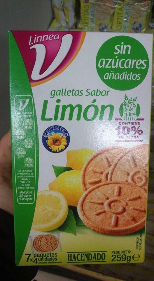 Galletas sabor limón 0% - Producto - es
