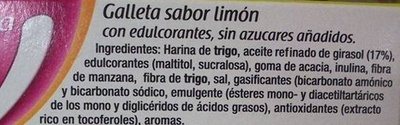 Linnea V Galletas sabor limón - Ingredients
