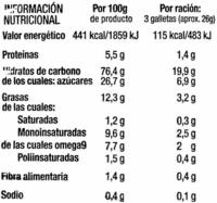 Galletas El Sabor del Horno - DESCATALOGADO - Nutrition facts