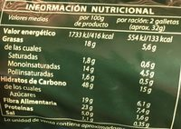 Galletas Digestive Fibra 23% - Información nutricional