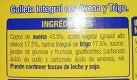 Digestive Avena - Ingrediënten