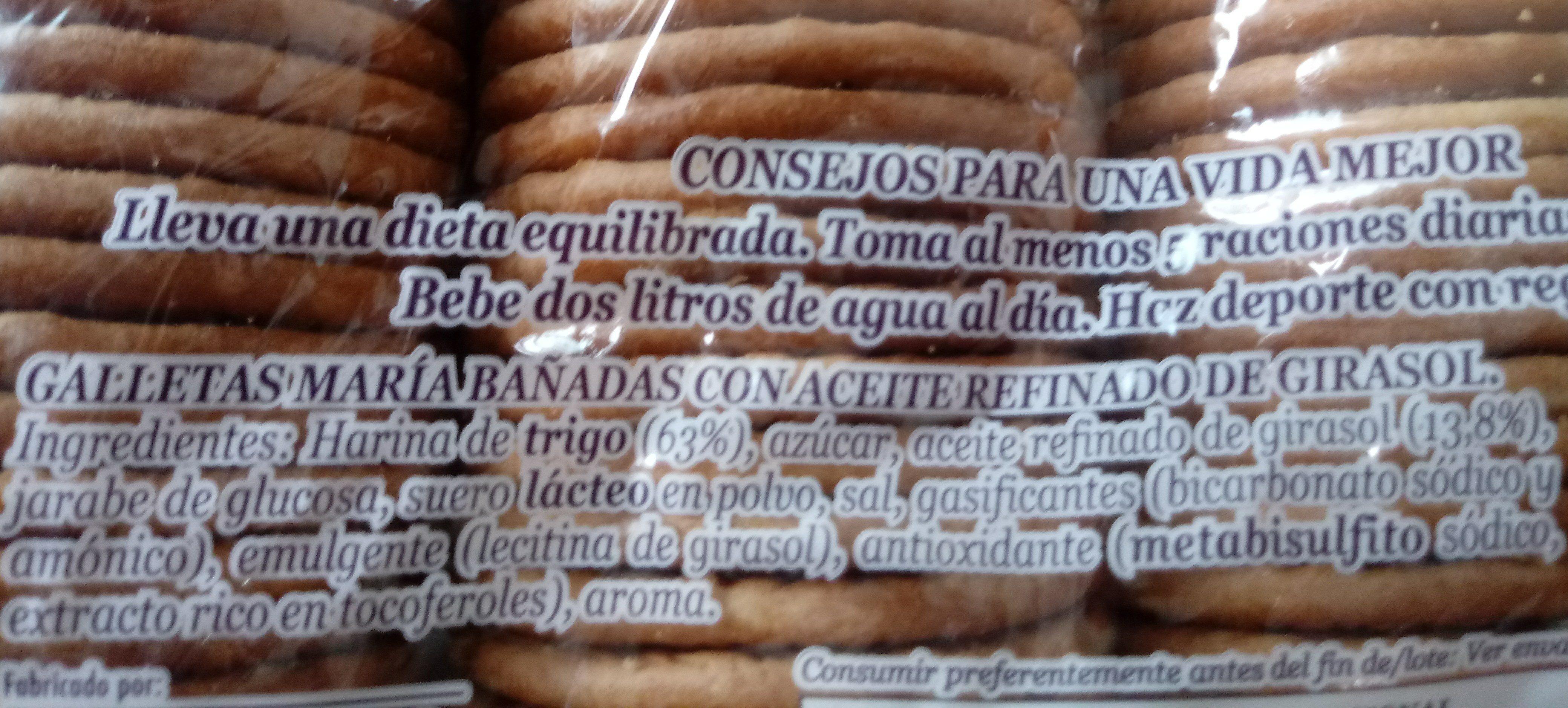 Galletas María Dorada Hacendado - Ingrédients