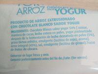 Galettes de riz chocolat blanc yaourt - Ingredients