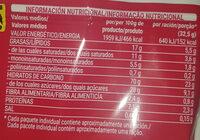 Producto De Arroz Extrusionado Con Chocolate Con Leche - Información nutricional